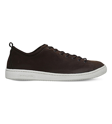 PAUL SMITH Miyata leather trainers (Dark+brown