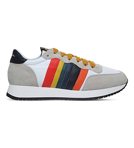 PAUL SMITH Stitch leather trainers