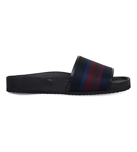 PAUL SMITH Todd leather pool slides (Blue+other