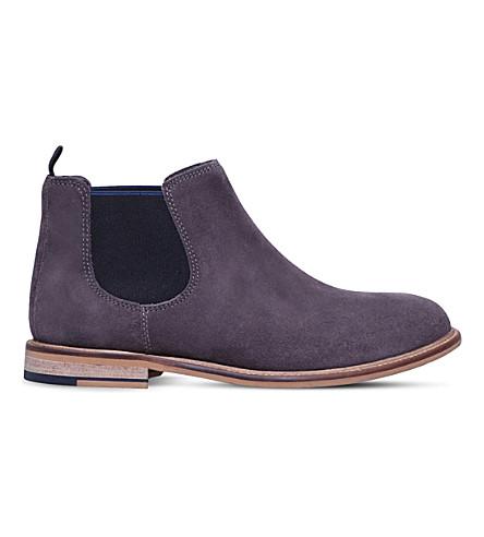 KG KURT GEIGER Halstead suede Chelsea boots (Grey