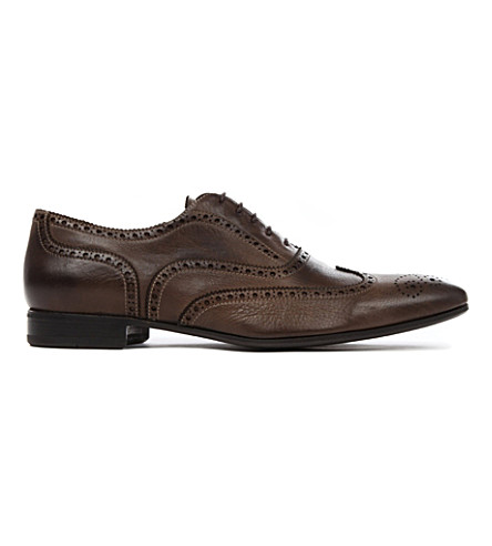 PAUL SMITH Miller leather brogues (Brown