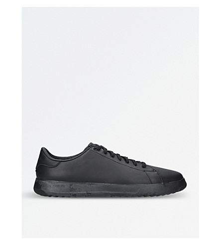 COLE HAAN Grandpro leather tennis trainers (Black