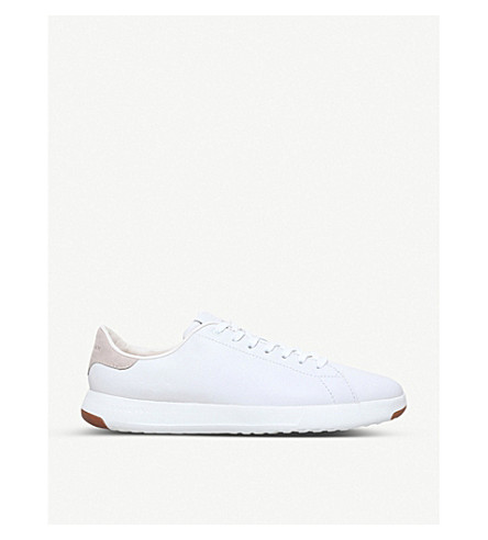 COLE HAAN GrandPrø Tennis leather trainers (White