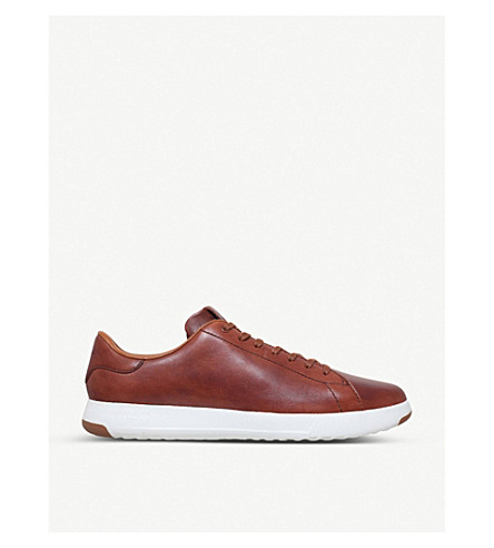 COLE HAAN GrandPrø Tennis leather trainers (Brown