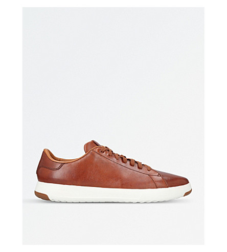 COLE HAAN GrandPrø Tennis leather trainers (Tan