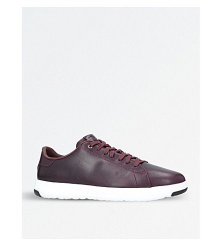 COLE HAAN GrandPrø Tennis leather trainers (Wine