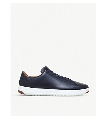 COLE HAAN Grandpro leather tennis trainers (Navy