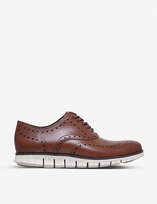 COLE HAAN ZERØGRAND Wingtip leather dress shoes