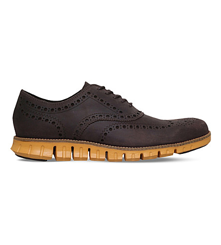 COLE HAAN ZERØGRAND Wingtip leather dress shoes (Brown/oth