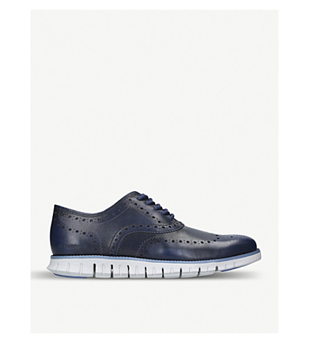 COLE HAAN Zerogrand leather oxford shoes (Navy