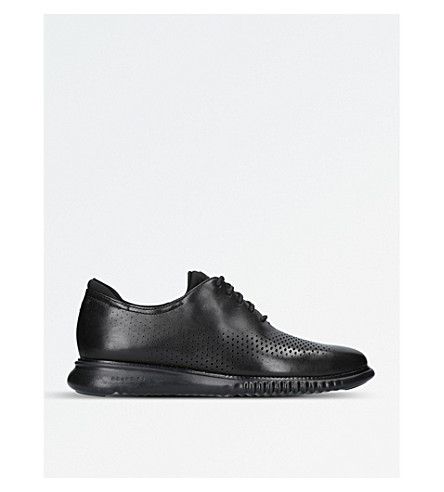 COLE HAAN 2.ZERØGRAND leather Oxford shoes (Black