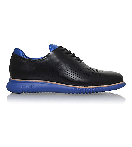 COLE HAAN 2.ZERØGRAND leather shoes (Blk/blue