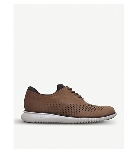 COLE HAAN 2.ZERØGRAND leather Oxford shoes (Tan