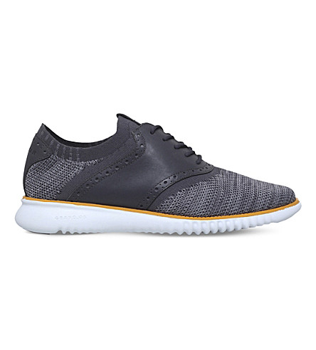 COLE HAAN 2.ZERØGRAND Saddle Knit Oxford (Navy