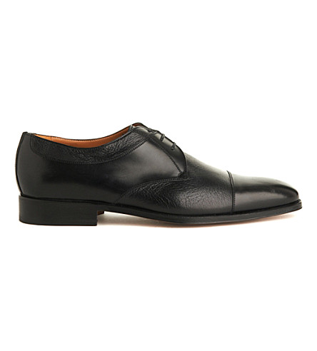 STEMAR Toecap leather Derby shoes (Black