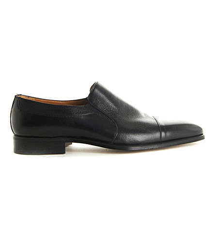 STEMAR Toecap slip leather loafers (Black