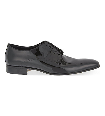 STEMAR Opera Dress patent-leather Derby shoes (Black