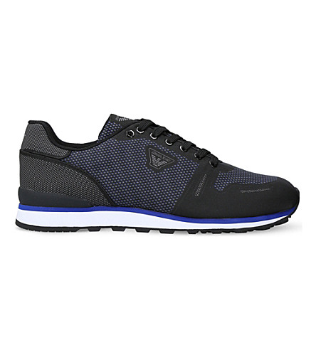 ARMANI JEANS Gym mesh runner trainers (Black