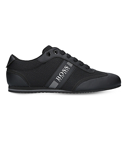 BOSS G Lighter leather and mesh trainers (Black