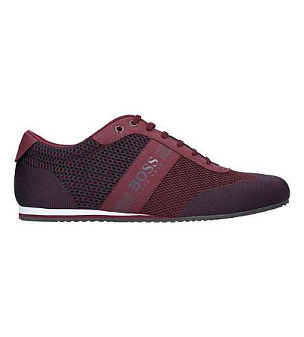 BOSS G Lighter Knit Lo Pro trainers (Wine