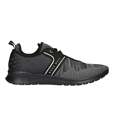 BOSS G Extreme Knit Runner trainers (Blk/grey