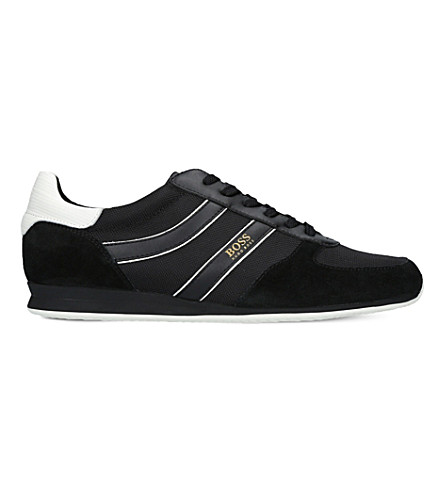 BOSS O Orland Runn suede and mesh trainers (Black