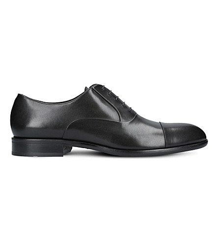 BOSS Bristol lace-up leather Oxford shoes (Black