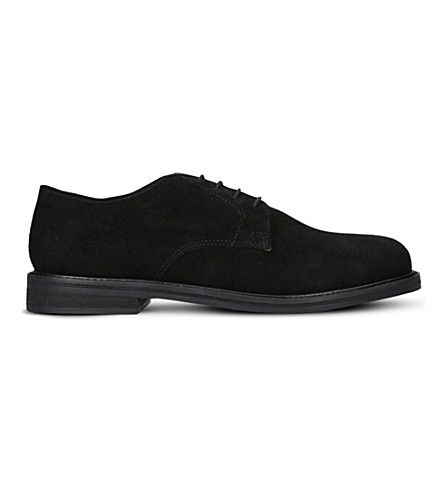 KURT GEIGER LONDON Hector suede Derby shoes (Black
