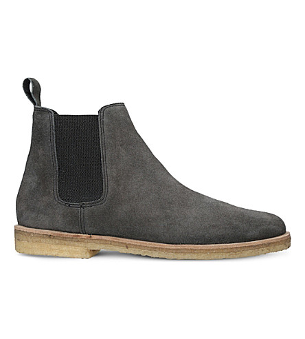 KURT GEIGER LONDON Syd suede Chelsea boots (Grey