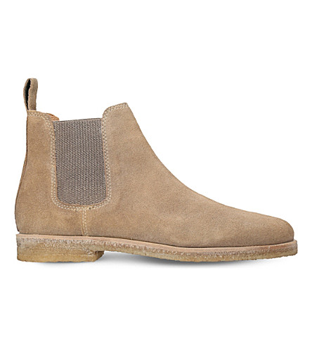 KURT GEIGER LONDON Syd suede desert boots (Taupe