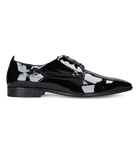 KURT GEIGER LONDON Dermot patent oxford shoes (Black
