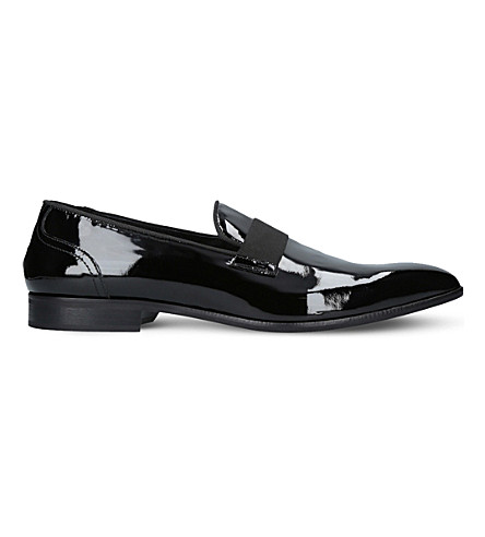 KURT GEIGER LONDON Ratner patent leather loafers (Black