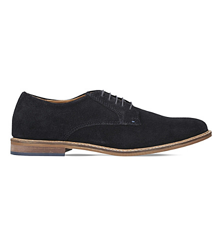 KURT GEIGER LONDON Donald suede Derbies (Navy