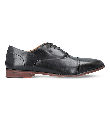 KURT GEIGER LONDON Oliver leather Oxford shoes (Black