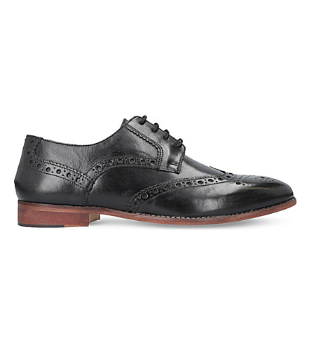 KURT GEIGER LONDON Percy leather brogues (Black
