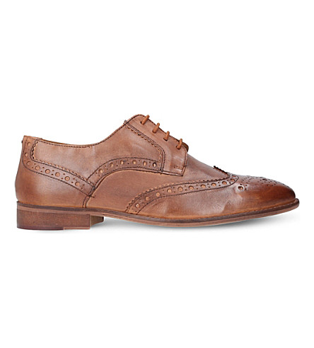 KURT GEIGER LONDON Percy leather brogues (Tan