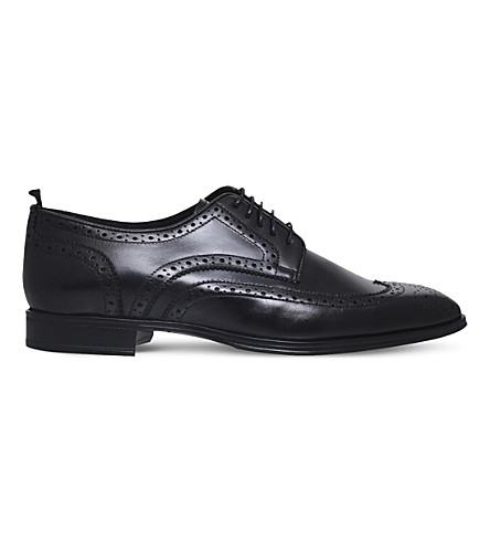 KURT GEIGER LONDON Angelo wingtip leather brogues (Black
