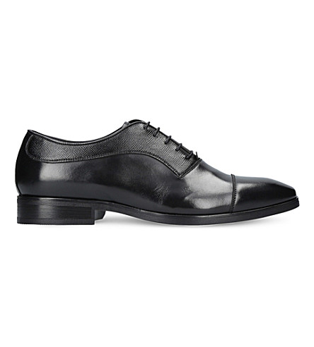 KURT GEIGER LONDON Austin textured leather Oxford shoes (Black