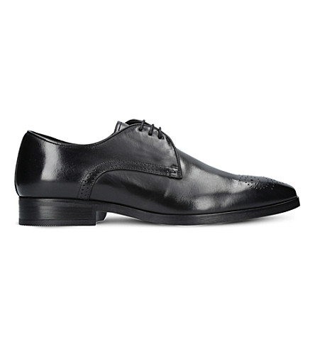 KURT GEIGER LONDON Angus perforated leather Oxford shoes (Black
