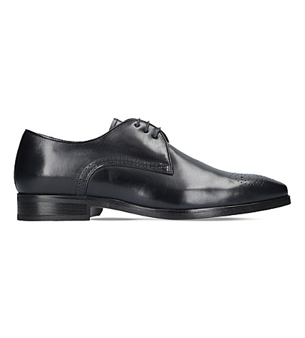 KURT GEIGER LONDON Angus perforated leather Oxford shoes (Navy