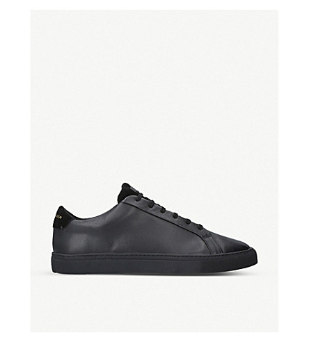 KURT GEIGER LONDON Donnie leather trainers (Black