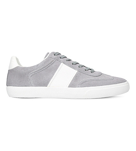 KURT GEIGER LONDON Alverez suede trainers (Grey