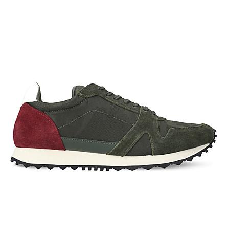 KURT GEIGER LONDON 麂皮绒低运动鞋 (绿色
