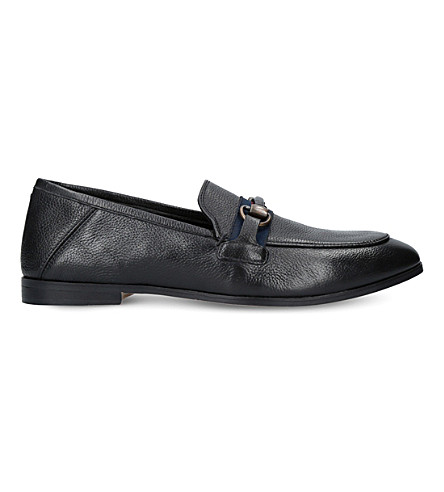 KURT GEIGER LONDON Lloyd leather loafers (Black
