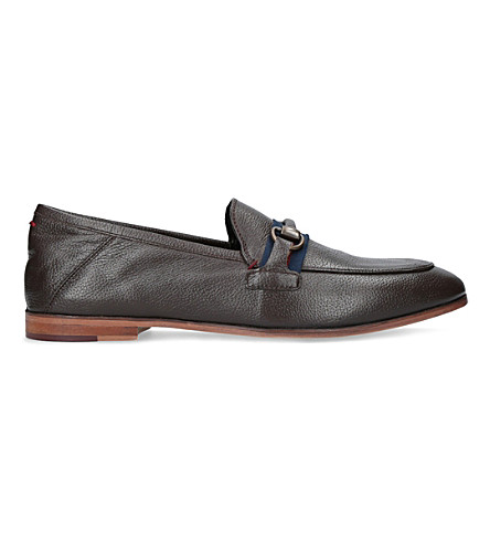 KURT GEIGER LONDON Lloyd leather loafers (Brown