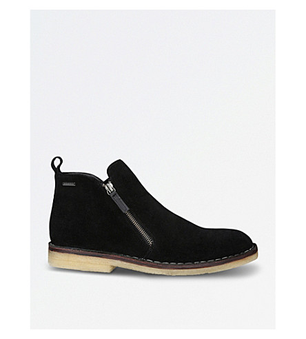 KURT GEIGER LONDON Otis suede ankle boots (Black