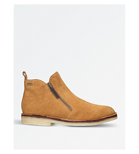 KURT GEIGER LONDON Otis suede ankle boots (Tan