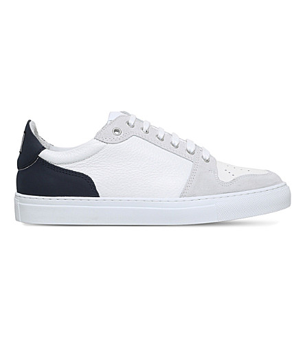AMI PARIS Baske Basse low-top leather trainers (Navy