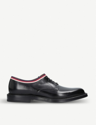 Web-trimmed leather derby shoes(6725850)