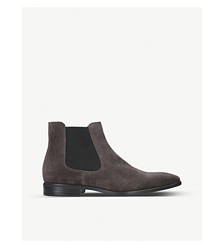 KURT GEIGER LONDON Frederick suede Chelsea boots (Grey